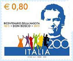 Italy - Two Stamps for the 200th Anniversary of the Birth of Don Bosco